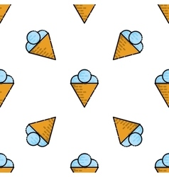 Ice cream flat pattern vector image