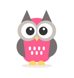 icon of cute owl vector image