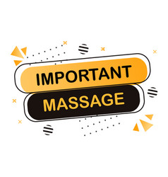 important message concept vector image