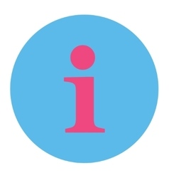 Info flat pink and blue colors round button vector