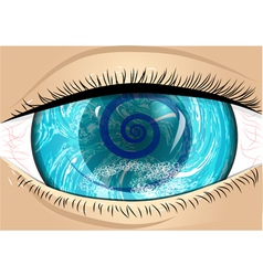 Iris of eye vector