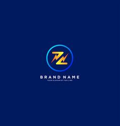 Letter z flash electrical logo design vector