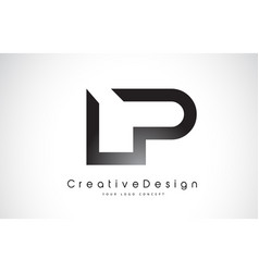 Lp l p letter logo design creative icon modern vector