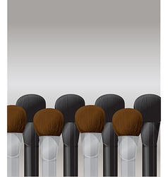 Makeup brushes vector