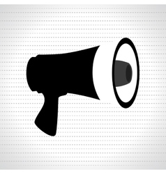 megaphone icon design vector image