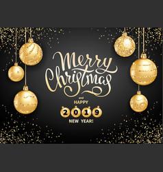 Merry christmas decoration 2019 vector