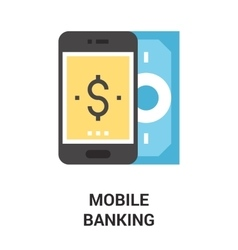 mobile banking icon concept vector image
