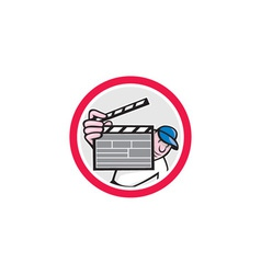 Movie Director Holding Clipboard Cartoon vector