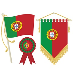 Portugal flags vector