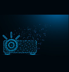 projector low poly design optical instrument vector image