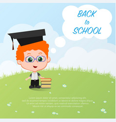 pupil school background vector image