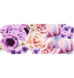 purple flowers watercolor provence rustic vector image