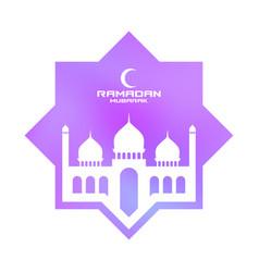 Ramadan mubarak greeting card for holy month ramad vector
