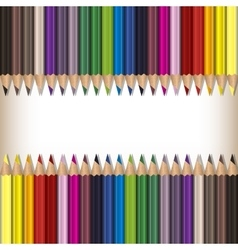 Realistic color pencils set vector image