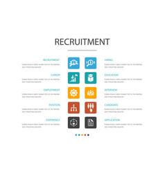 Recruitment infographic 10 option concept career vector