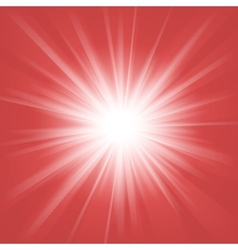 Red and white abstract magic light background vector