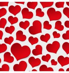 Red valentine hearths symbol seamless pattern vector