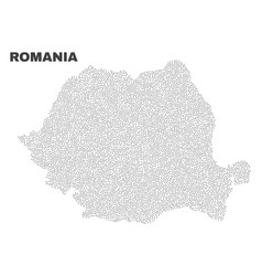 Romania map of points vector