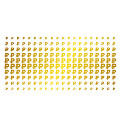 rouble golden halftone array vector image