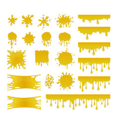 set of sweet honey drops vector image