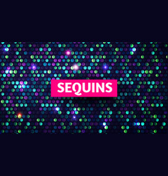 shining sequins abstract background glittering vector image