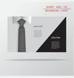 Shirt and tie business card bacground vector