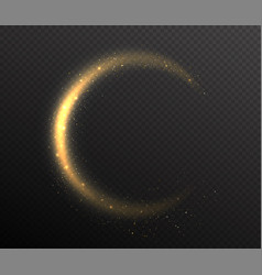 sparkle glitter rounded tail glow dust wave in vector image