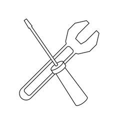 Support repair tools concept help symbol vector