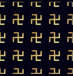 Swastika seamless pattern rotating cross vector