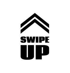 swipe up sign scrolling button template vector image
