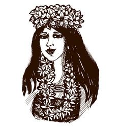 Tahiti girl vector