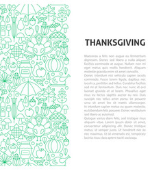 thanksgiving line pattern concept vector image