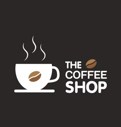 the coffee shop cup of coffee background im vector image