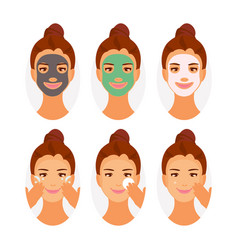 Types of face masks vector