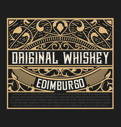vintage whiskey label vector image