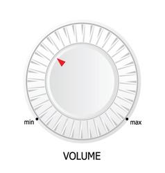White volume knob vector