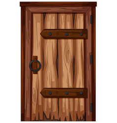 Wooden door with bad condition vector
