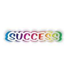 word SUCCESS cut from paper vector image