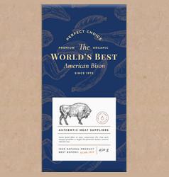 Worlds best bisonf abstract craft paper vector