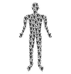 yen man figure vector image