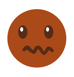 angry emoticon face kawaii style vector image vector image