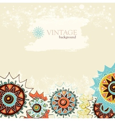 Detailed ornament background with colorful circles vector image