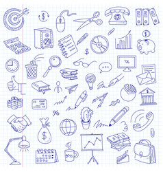 freehand drawing office on a sheet vector image vector image