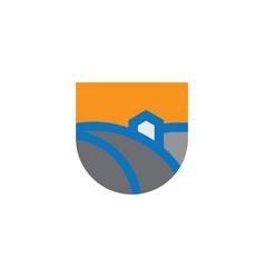 home nature icon logo vector image