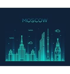 Moscow skyline trendy linear vector image