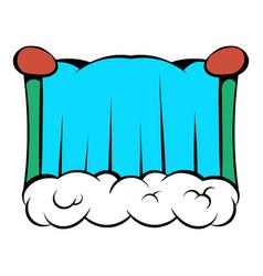 Niagara falls icon cartoon vector