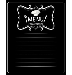 Paper design with menu food and drinks vector image