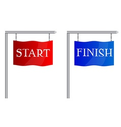 Start finish flags vector image vector image