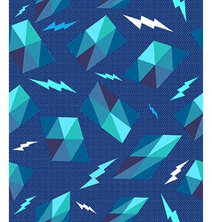 Trendy retro geometric seamless pattern vector image vector image