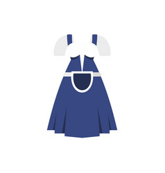 blue bavarian dress icon flat style vector image vector image